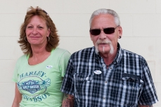 "Outside of the polling place at Walter Taylor 4H building, a couple cancelled out each others votes for president. Darrell Welch, a retired law enforcement officer said he voted for Trump as ""the lesser of two evils"" while his girlfriend Desiree Derflinger, a lumber trucker who identifies as a republican, voted for Clinton because ""Trump is an idiot""."