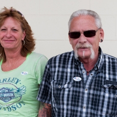 """Outside of the polling place at Walter Taylor 4H building, a couple cancelled out each others votes for president. Darrell Welch, a retired law enforcement officer said he voted for Trump as """"the lesser of two evils"""" while his girlfriend Desiree Derflinger, a lumber trucker who identifies as a republican, voted for Clinton because """"Trump is an idiot""""."""