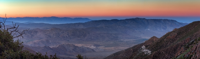 Sunset over the Anza Borrego Desert.