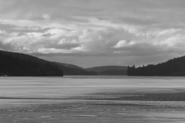 Looking North on Swan Lake from route 83 on the way to Kalispell and Glacier National Park.
