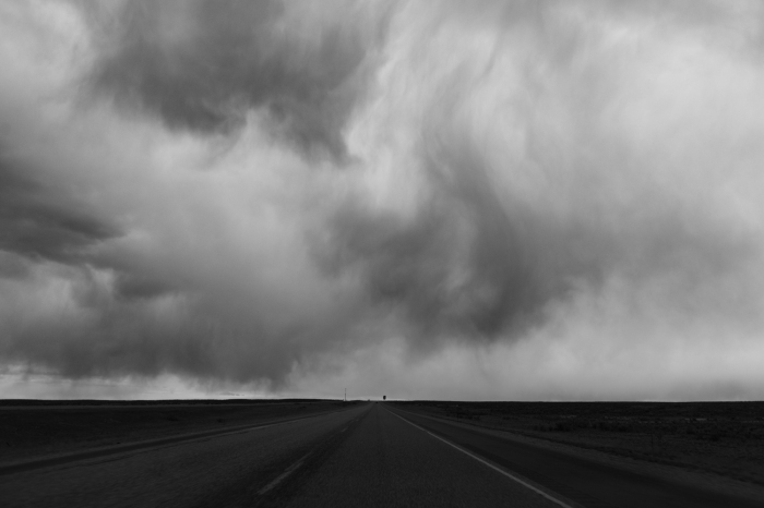 Rainstorm over Interstate 15. Idaho.