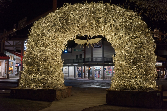 The antler arches at the town square of Jackson Hole.