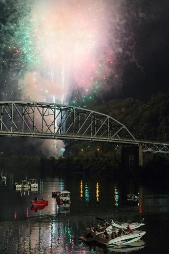 4th of July along the Kanawha River. Charleston, WV.