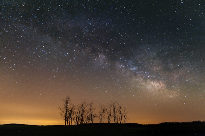 Milky Way Galaxy over Big Meadows. Shenandoah National Park.