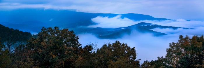 Blue Ridge Mountains at Dusk. Shenandoah National Park.
