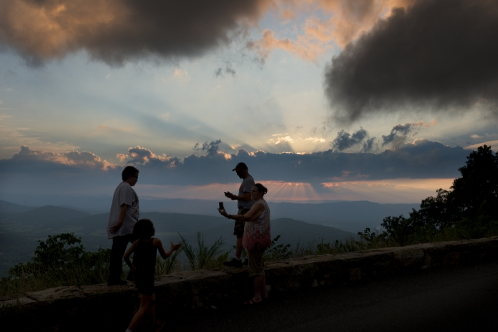 Sunset from Skyline Drive in Virginia's Shenandoah National Park.