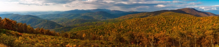 Autumn in Shenandoah National Park. As Seen from Skyline Drive in the Early Morning.