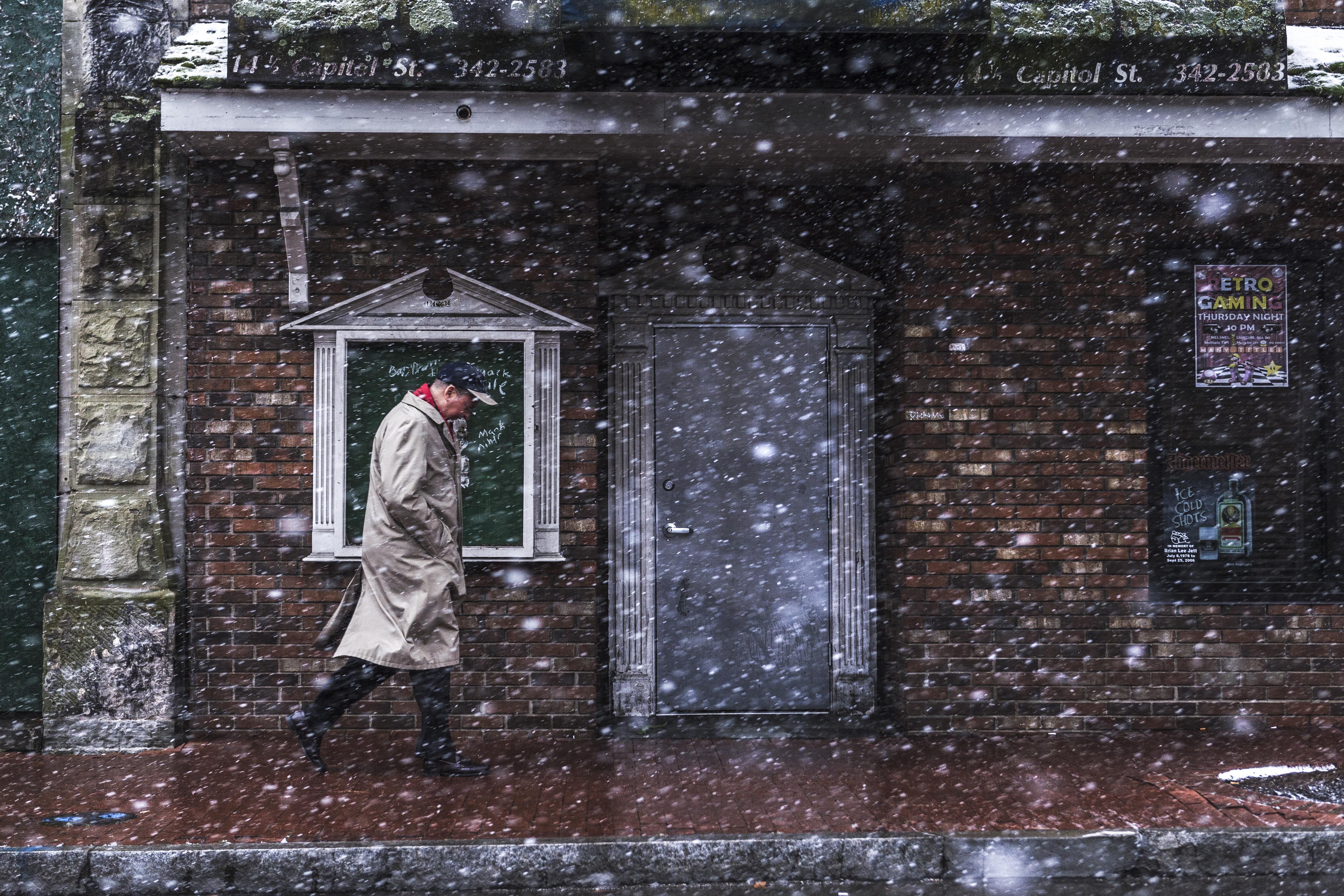 Snowy Day along Capitol Street. Charleston, W.V.