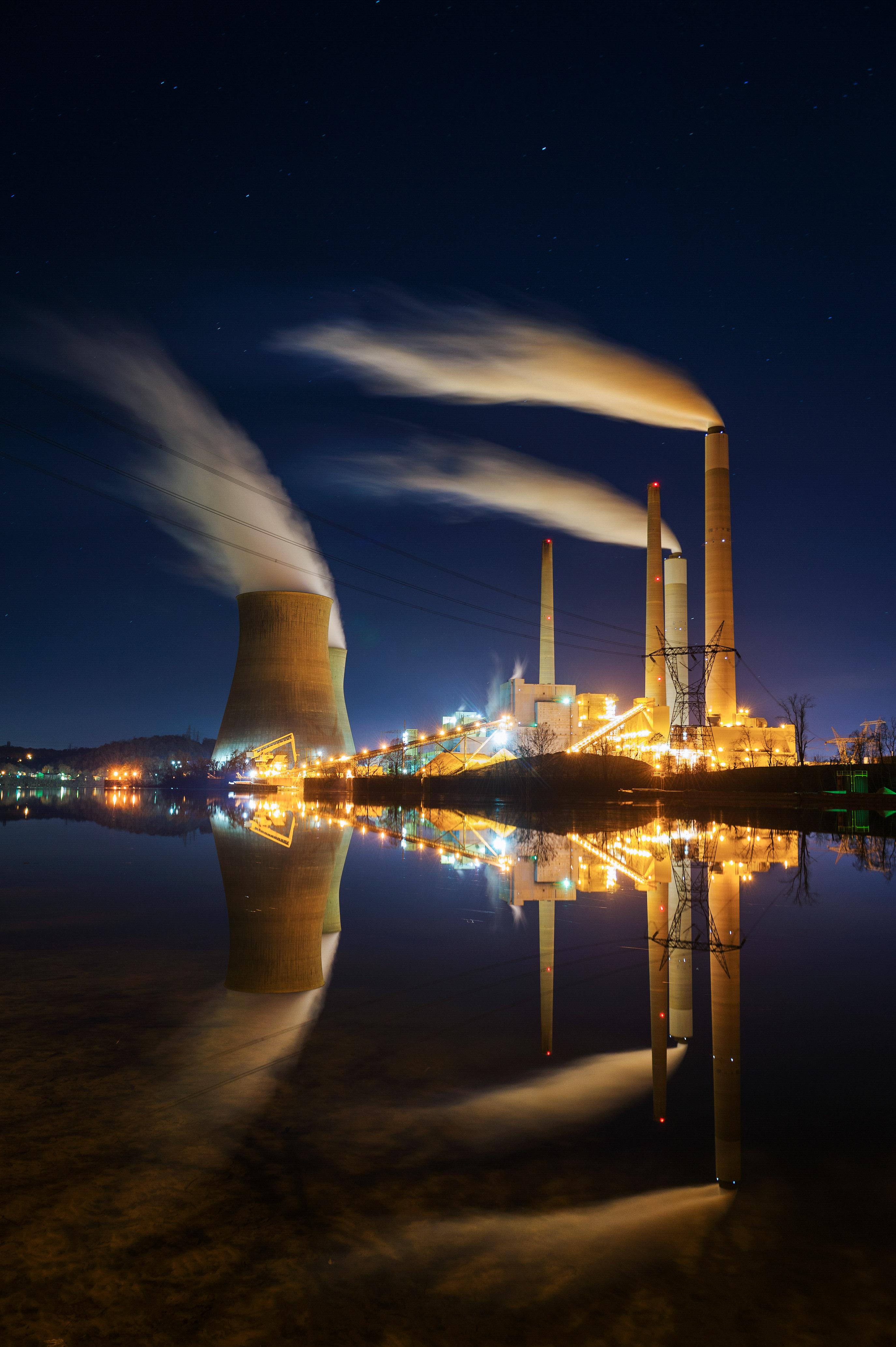John Amos Power Plant from across the Kanawha River. Poca, WV