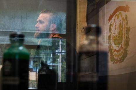 Employee Scott Mckenzie is seen inside Appalachian Cannabis Company in Cross Lanes, W.V., on Thursday, August 31, 2017.