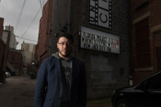 Rafael Barker poses for a portrait outside of Underground Cinema in Charleston, W.Va., on Friday, December 08, 2017.