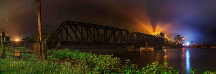 Night over Gauley Bridge, W.V.